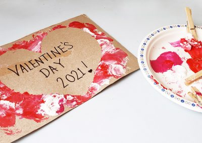 Cotton Ball Painting – Valentine's Day