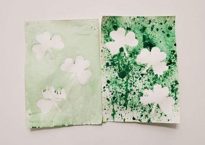 Shamrock Spray Art – St. Patrick's Day